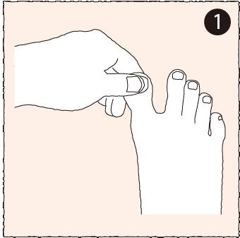 爪のマッサージ