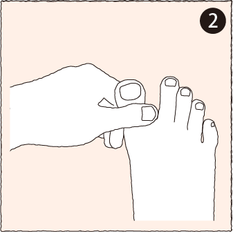 指のマッサージ