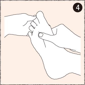 指の付け根のマッサージ